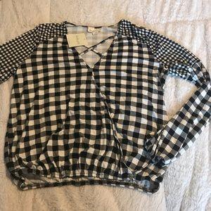 Harlow Grey Plaid Long-sleeve Shirt